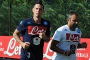 Napoli, allenamento a Castel Volturno: ancora assente Hamsik. Il capitano è in dubbio per la sfida con l'Atalanta
