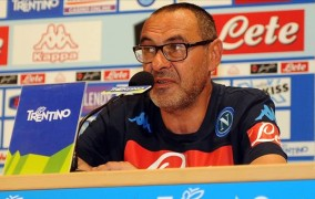 """Sarri: """"Ho visto un buon Napoli al di là del risultato. Temperamento anche in 10″"""