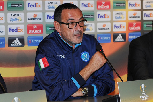 """Sarri: """"Abbiamo dei problemini ma possiamo risolversi. Europa League obiettivo di prestigio"""""""