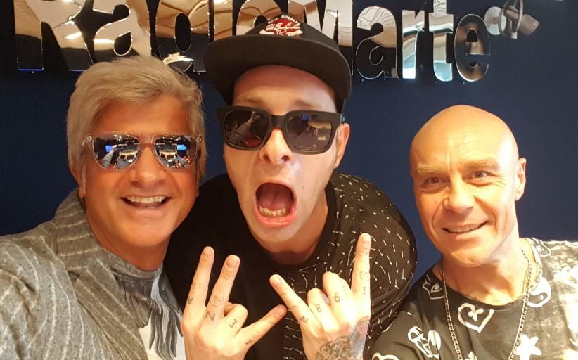 """Clementino ospite in """"DJ Pandemonio"""" con Gianluca Manzieri e Dino Piacenti"""
