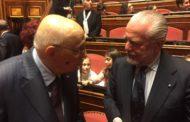 De Laurentiis in Senato alla cerimonia di inaugurazione per il bicentenario della nascita di Francesco De Sanctis