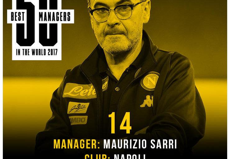 Four Four Two: Maurizio Sarri è il quattordicesimo allenatore al mondo