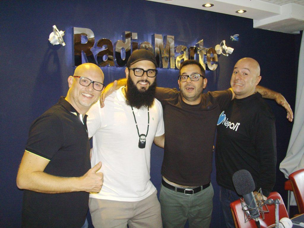 Andrea D'Alessio ospite con Gigio, Francesco e Marco in