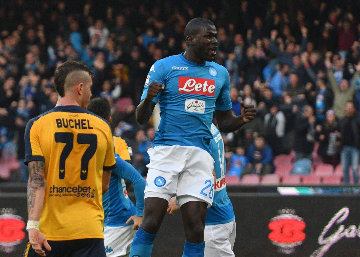 Napoli, nessun problema contro il Chievo:  3-1 al Bentegodi, doppietta di Koulibaly