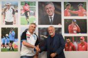 Napoli, De Laurentiis dà il benvenuto ad Ancelotti e alla squadra nel primo giorno a Castel Volturno