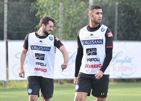Napoli, primo allenamento in gruppo per Ghoulam e Younes